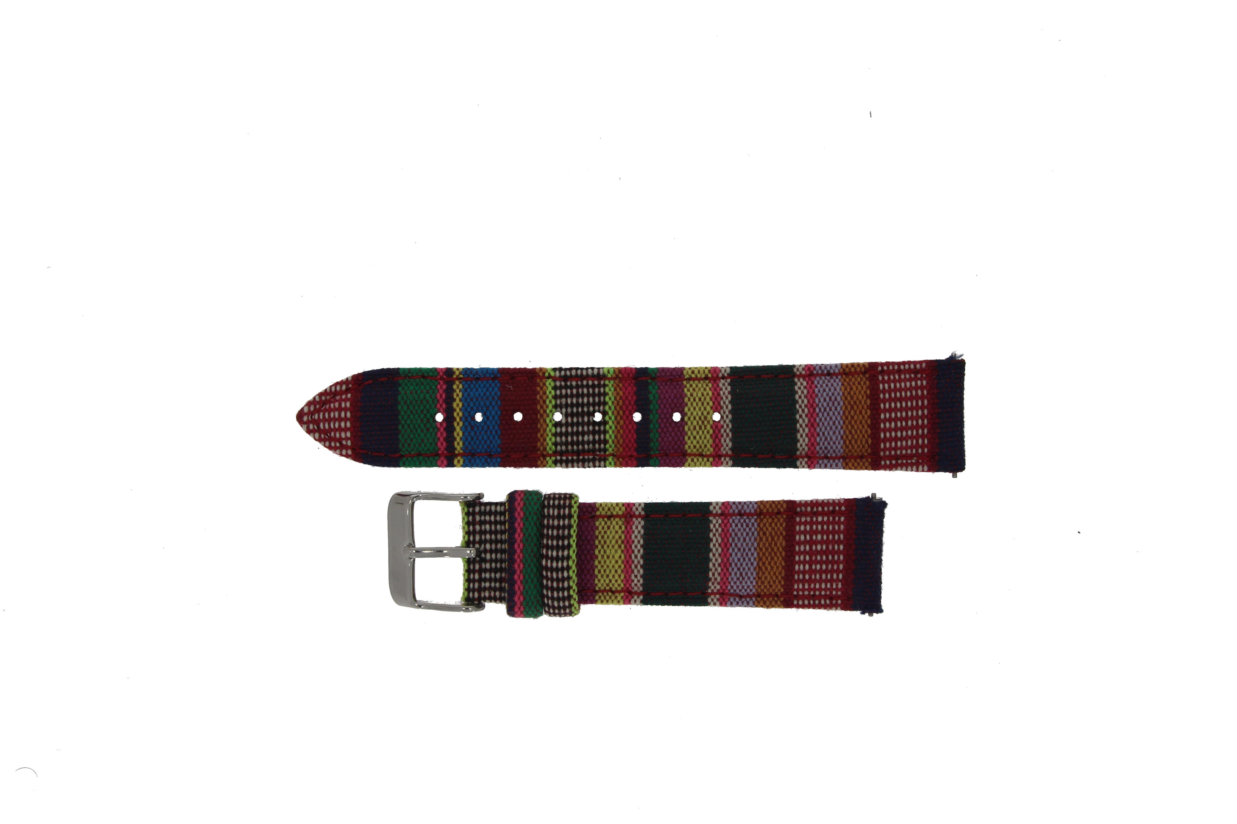 Textil - Leder - Band (20mm) color motif für Samsung Galaxy
