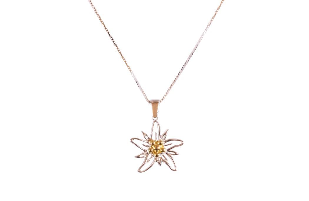 Edelweiss Collier Silber / vergoldet EB004