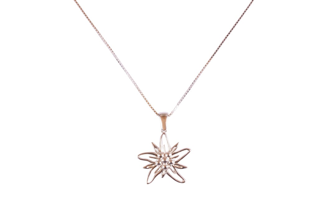 Edelweiss Collier Silber EB003