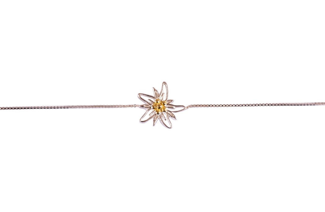 Edelweiss Armband Silber vergoldet EB002