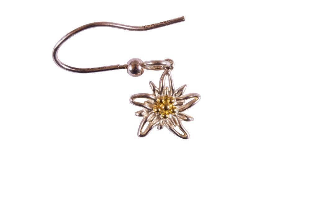 Edelweiss Ohrhänger Paar Silber vergoldet EB014