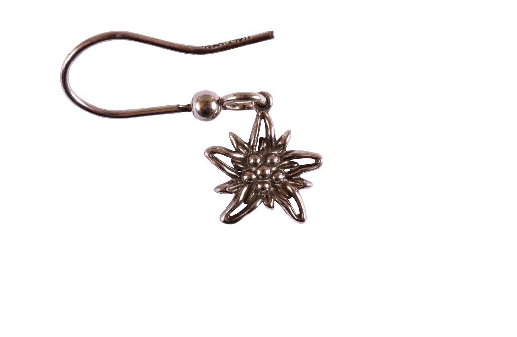 Edelweiss Ohrhänger Paar Silber vintage EB015